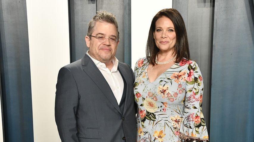 Patton Oswalt und Meredith Salenger auf der Vanity Fair Oscar Party, 2020