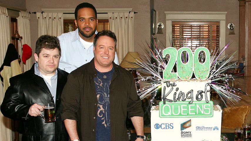 "Patton Oswalt, Victor Williams und Gary Valentine von ""King of Queens"", 2007"