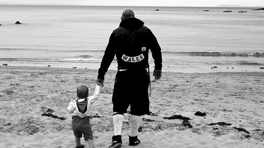 Paul Black mit seiner Tochter