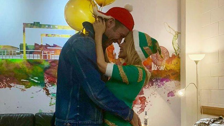 Paul Solomons und Kylie Minogue an Weihnachten