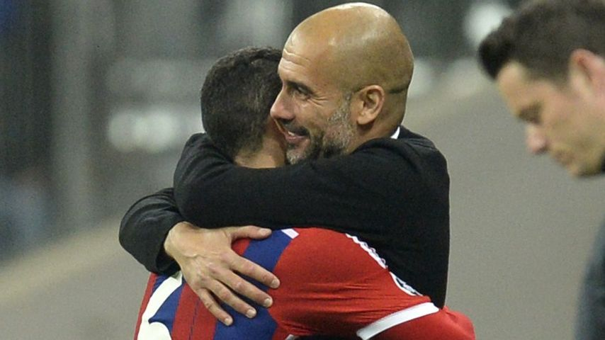 Pep Guardiola und Thiago Alcántara
