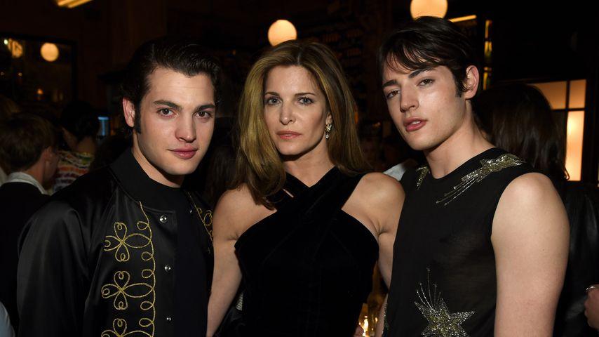Peter Brant Jr., Stephanie Seymour und Harry Brant, April 2015 in New York City