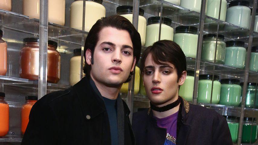 Peter Jr. und Harry Brant im M.A.C.-Store