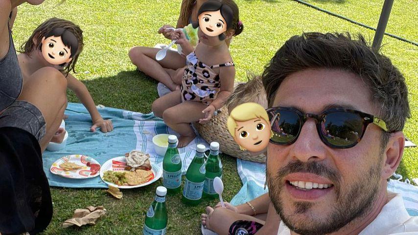 Petra Ecclestone und Sam Palmer mit ihren Kids