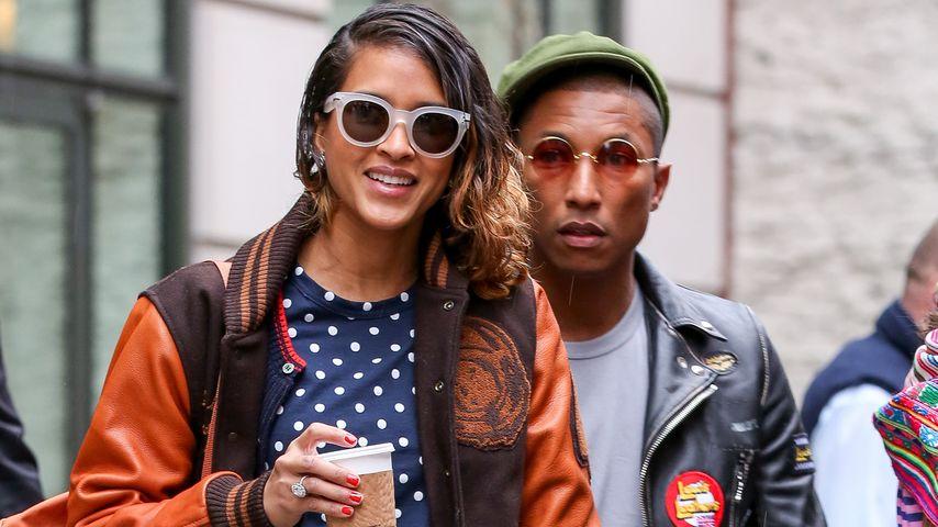 Seltene Pics! Pharrell Williams zeigt sich mit seiner Frau