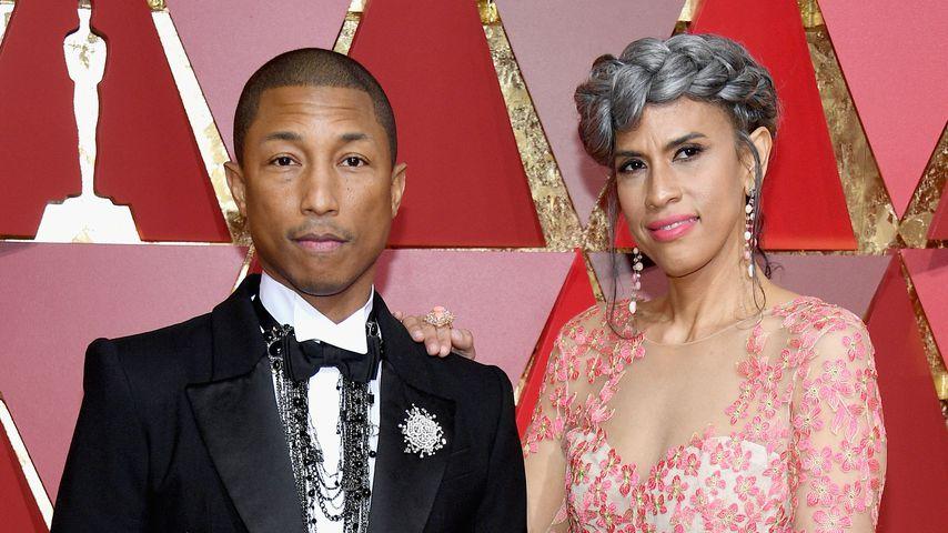 Pharrell Williams und Mimi Valdes bei den Oscars 2017