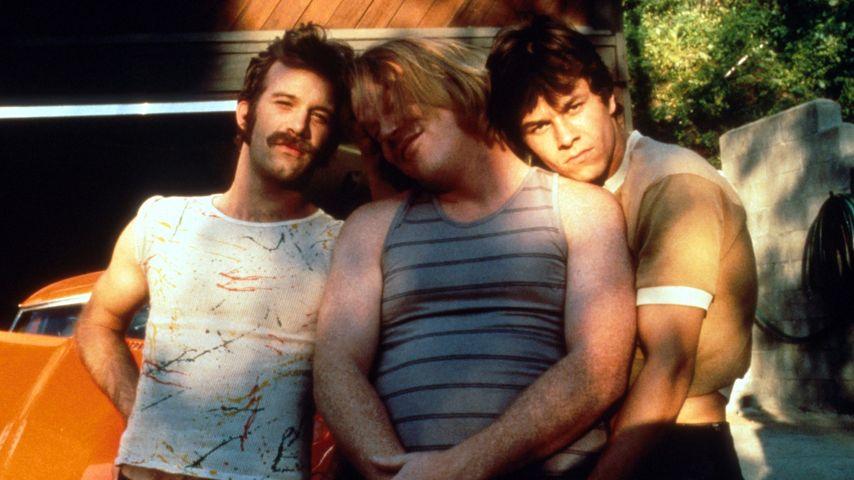 """Philip Seymour Hoffman und Mark Wahlberg in """"Boogie Nights"""""""