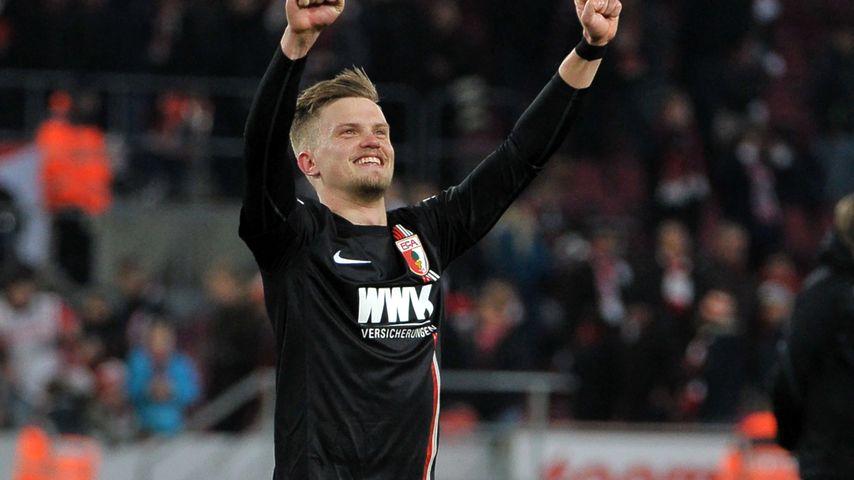 Philipp Max beim Fußballspiel 1.FC Köln vs FC Augsburg