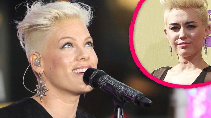 Pink Findet Miley Cyrus Kurzhaar Frisur Super Promiflash De
