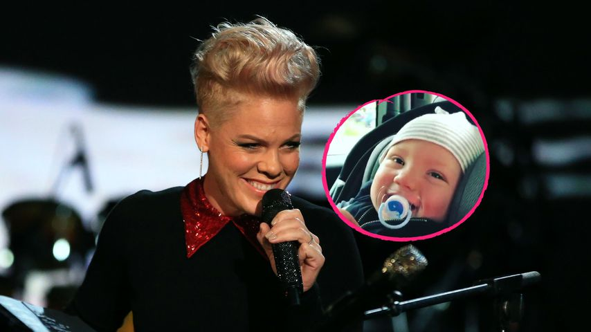 Multitask-Mama Pink: Lach-Anfall mit Baby trotz Tour-Stress!