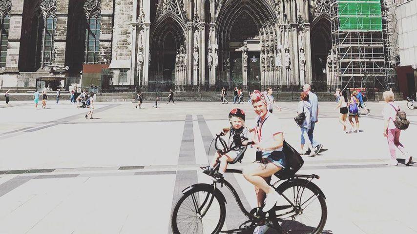 Pink mit ihrem Sohn in Köln, Juli 2019