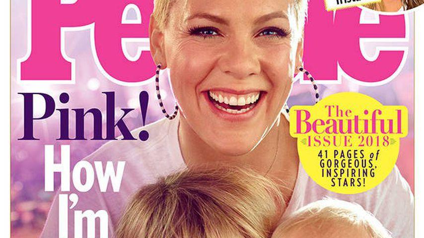 Pink mit ihren Kindern Willow und Jameson
