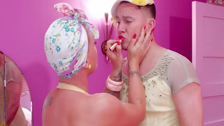 In Frauen-Klamotten: Channing Tatum tanzt in Pinks Videoclip
