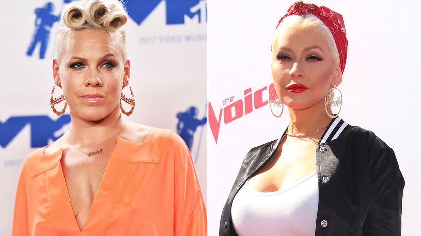 Diven-Beef! Pink prügelte sich fast mit Christina Aguilera