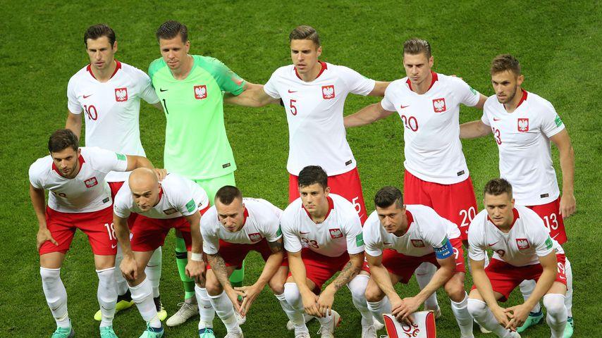 Polens Nationalmannschaft beim WM-Spiel gegen Kolumbien