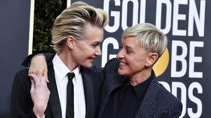 Portia de Rossi and Ellen DeGeneres bei den Golden Globes 2020