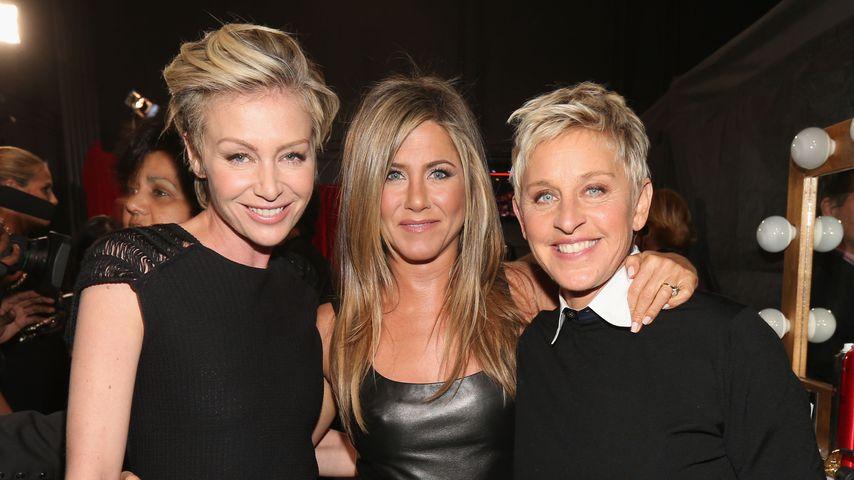 Portia de Rossi, Jennifer Aniston und Ellen DeGeneres im Januar 2013