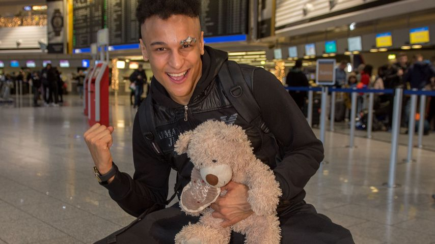 Prince Damien am Frankfurter Flughafen