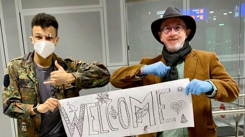 """""""Herzensmensch"""": Prince Damien begrüßt Dr. Bob am Flughafen"""