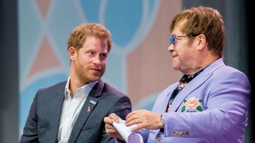 Im Kampf gegen Aids: Harry & Elton John starten Hilfsprojekt