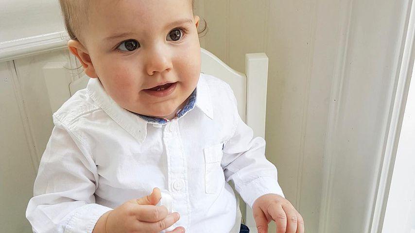 Prinz Alexander von Schweden an seinem ersten Geburtstag