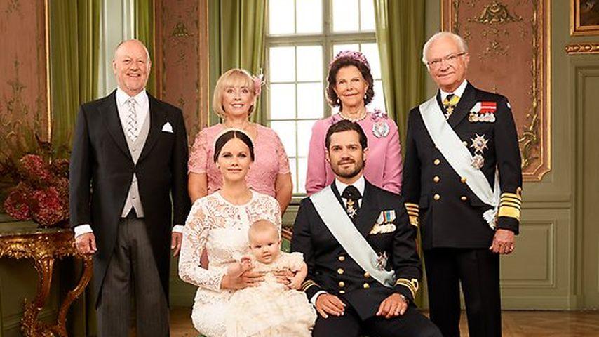 Prinz Alexander von Schweden mit Eltern und Großeltern