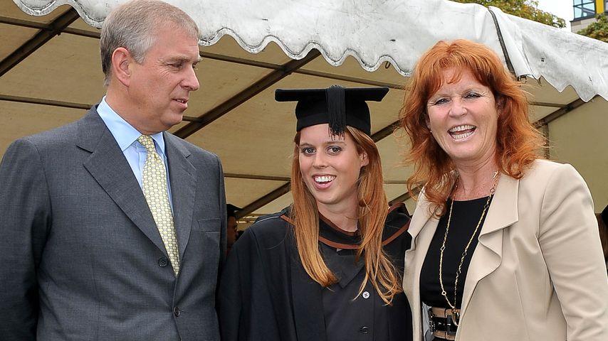 Prinz Andrew, Prinzessin Beatrice und Sarah Ferguson, 2011