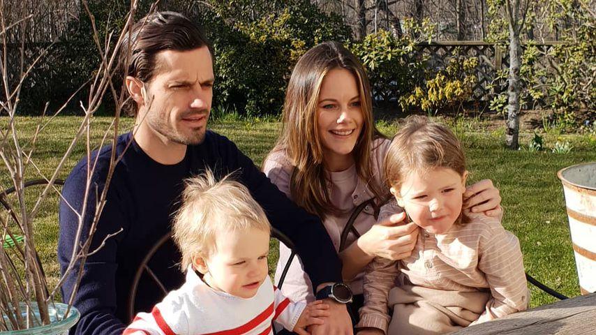 Prinz Carl Philip und Prinzessin Sofia mit ihren Kindern an Ostern 2020