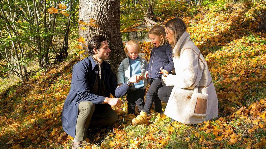 Prinz Carl Philip von Schweden mit seiner Familie
