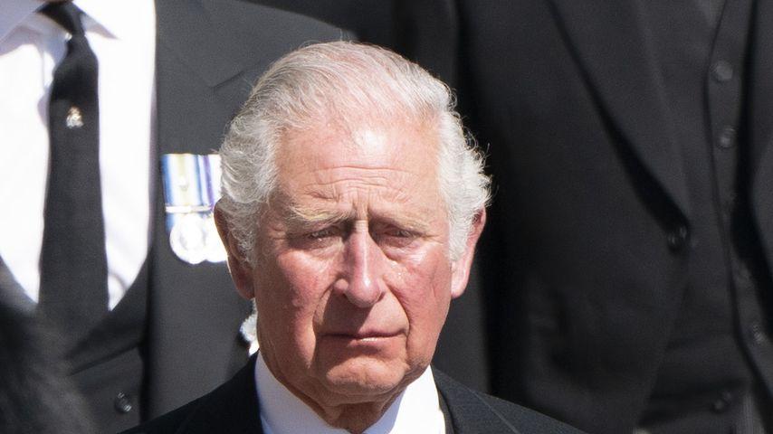Prinz Charles am Tag von Prinz Philips Beerdigung