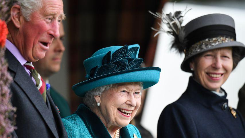 Prinz Charles, Queen Elizabeth II. und Prinzessin Anne, September 2018