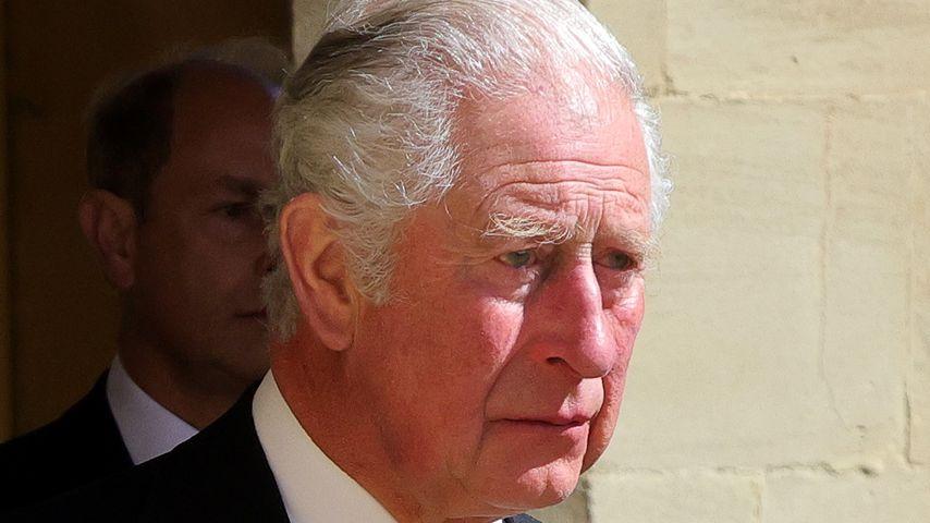 Prinz Charles bei der Beerdigung von Prinz Philip im April 2021