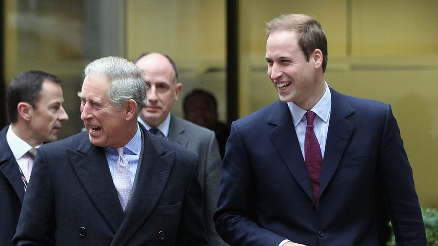 Prinz Charles und Prinz William im Dezember 2010