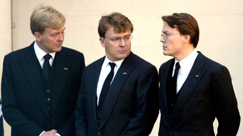 Prinz Constantijn, Prinz Johan Friso und der heutige König Willem-Alexander der Niederlande 2002
