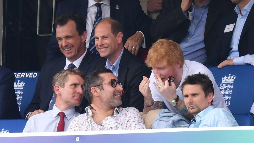 Prinz Edward und Ed Sheeran beim Cricket World Cup 2019 in London