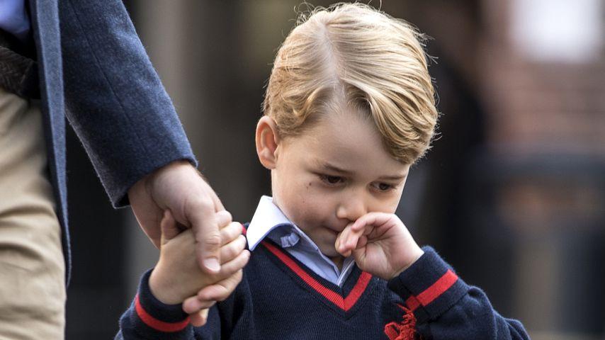 Prinz George bei seinem ersten Schultag in London