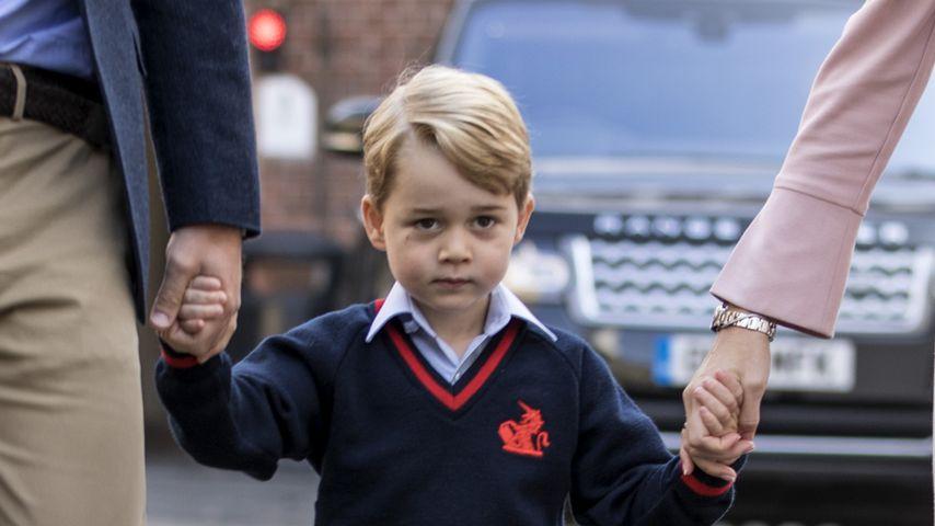 Prinz George bei seiner Einschulung, 2017