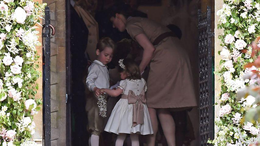 Prinz George und Prinzessin Charlotte mit ihrer Nanny Maria Borrallo