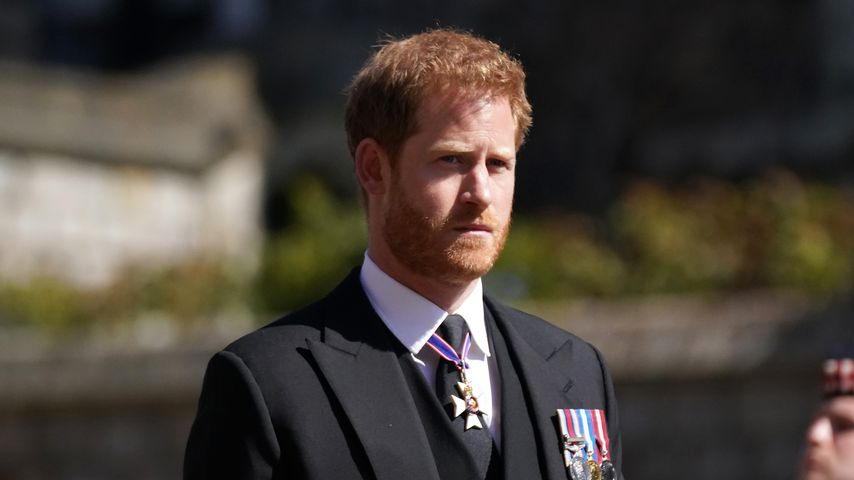 Prinz Harry auf der Beerdigung von Prinz Philip