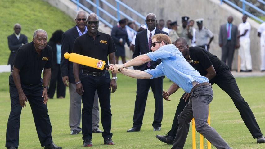 Karibik-Sport: Prinz Harry amüsiert sich ohne seine Meghan