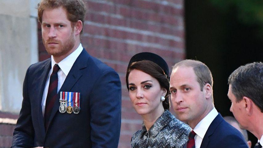 Prinz Harry, Herzogin Kate und Prinz William bei einer Gedenkveranstaltung in Frankreich