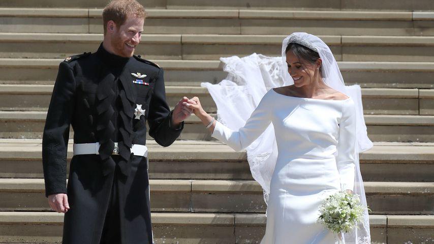 Prinz Harry und Herzogin Meghan am Tag ihrer Hochzeit im Mai 2018