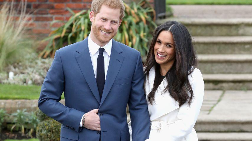 Prinz Harry und Herzogin Meghan bei der Verkündung ihrer Verlobung