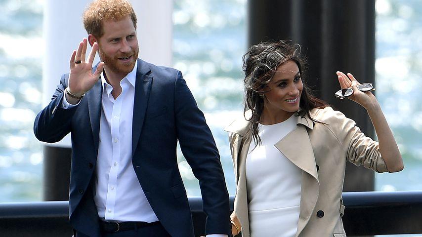 Prinz Harry und Herzogin Meghan bei ihrer Ankunft am Hafen von Sydney