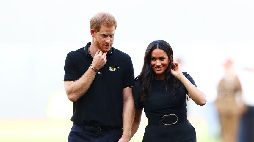 Prinz Harry und Herzogin Meghan bei einem Baseballspiel in London