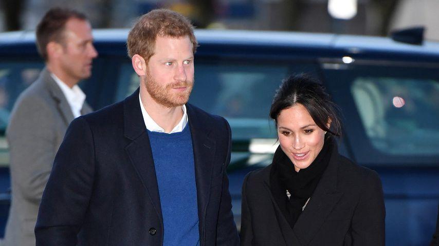 Prinz Harry und Herzogin Meghan im Januar 2018 in Cardiff, England