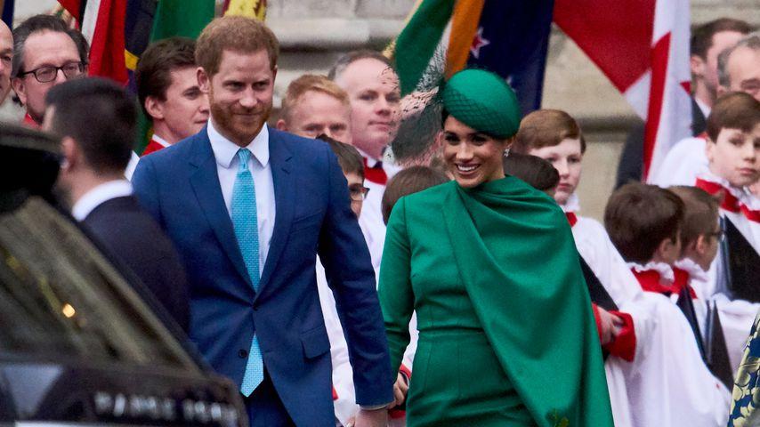 Prinz Harry und Herzogin Meghan vor der Westminster Abbey, 2020