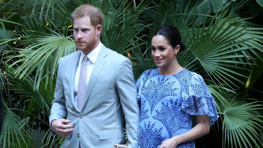 Prinz Harry und Herzogin Meghan nach ihrem Besuch beim marokkanischen König in Rabat
