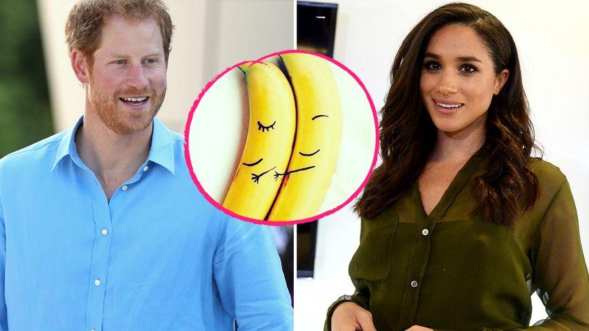 Liebes-Bananen für Prinz Harry? Meghan postet süßes Obst-Pic