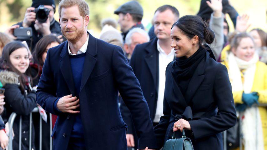 Prinz Harry und Meghan Markle bei ihrem Besuch in Wales